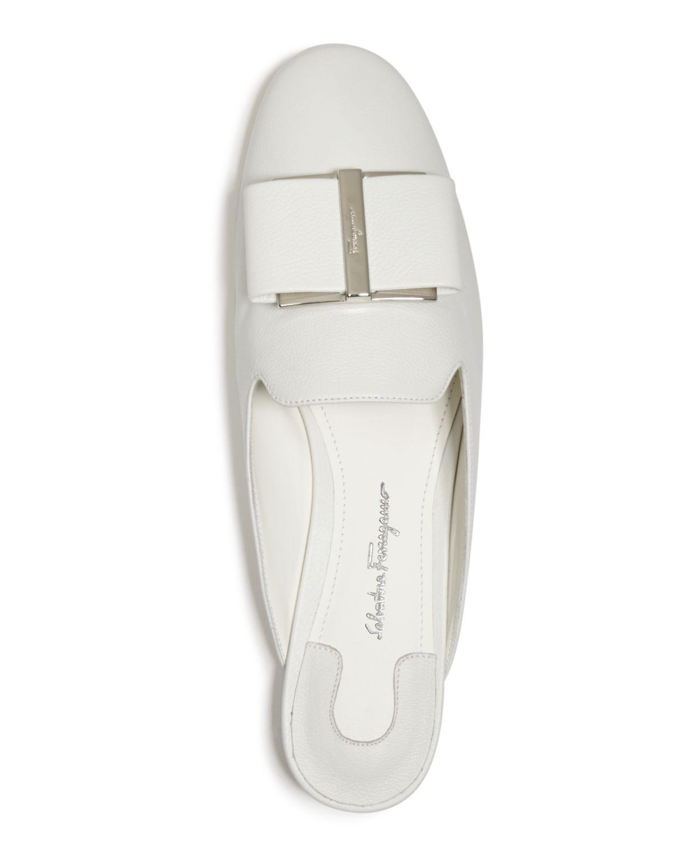 Women's Leather Floral Heel Mules by Salvatore Ferragamo