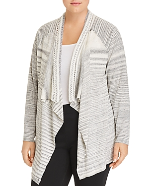Nic+Zoe Plus Time Change Open-Front Cardigan