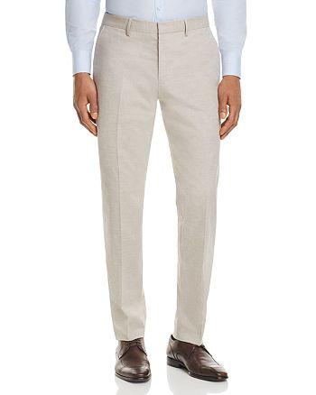 BOSS - Solid Slim Fit Dress Pants
