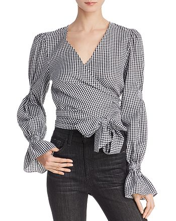C/MEO Collective - Best Love Gingham Wrap Top