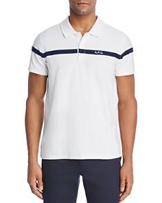 A.P.C. Henri Stripe Regular Fit Polo Shirt - Bloomingdale's_0