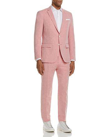 BOSS - Linen Solid Slim Fit Suit Separates