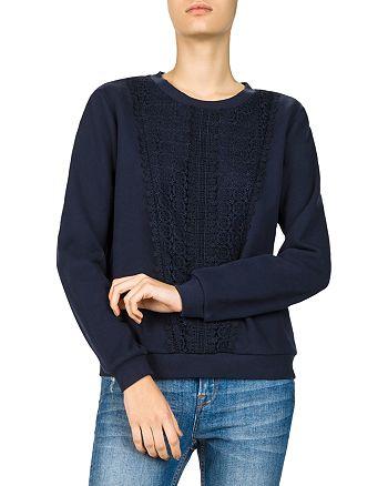 The Kooples - Lace-Inset Sweatshirt