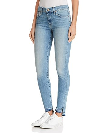 7 For All Mankind - Ankle Skinny Jeans in Desert Heights