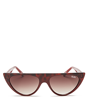 8d08df13f1943 QUAY RUN AWAY 56MM SHIELD SUNGLASSES - TORT  BROWN ...