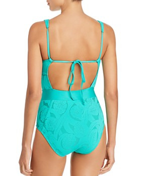 ATHENA - All Dressed Up Plunge Front One Piece Swimsuit