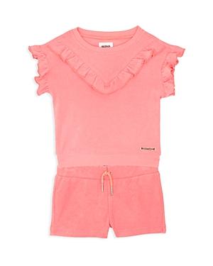 Hudson Girls FlutterSleeve Sweatshirt  Terry Shorts Set  Baby