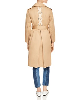 Sandro - Gabriela Lace-Up Detail Coat