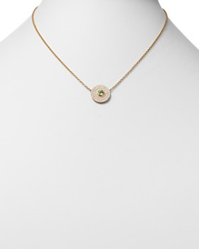 Kiki McDonough - 18K Yellow Gold Fantasy Green Amethyst & Diamond Necklace, 16""