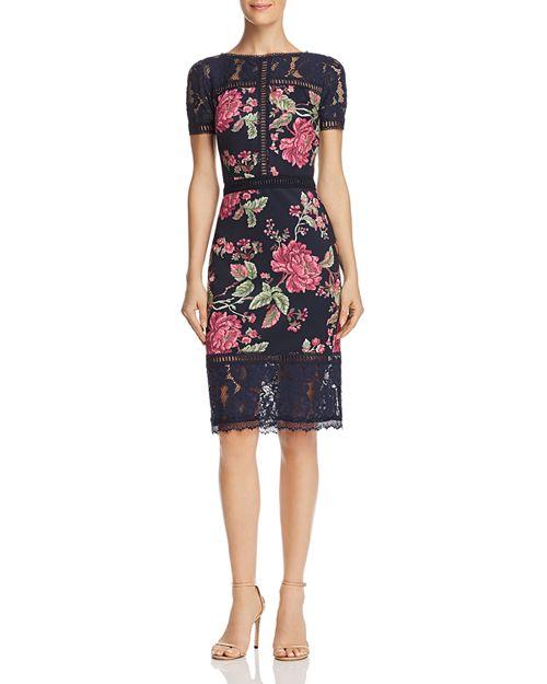 Tadashi Shoji Floral Neoprene Dress   Bloomingdale\'s