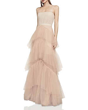 Bcbgmaxazria Tiered-Tulle Gown