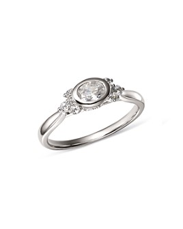 Bloomingdale's - Diamond Oval Ring in 14K White Gold, 0.50 ct. t.w. - 100% Exclusive