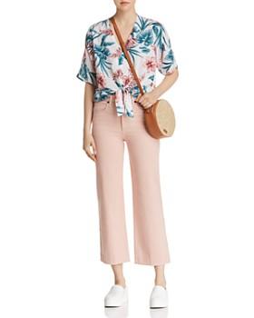 Rails - Thea Floral Print Tie-Front Shirt - 100% Exclusive