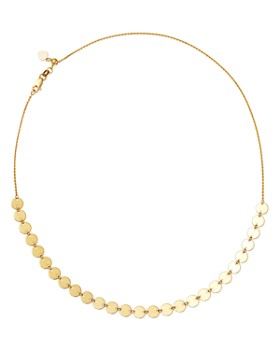 """Moon & Meadow - Disc Choker Necklace in 14K Yellow Gold, 16"""" - 100% Exclusive"""