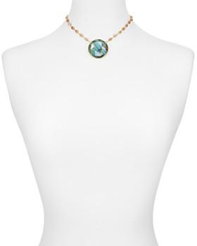 "Ela Rae - Morah Circle Pendant Necklace, 13"""
