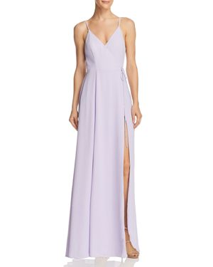 FAME AND PARTNERS THE TILBURY WRAP GOWN - 100% EXCLUSIVE