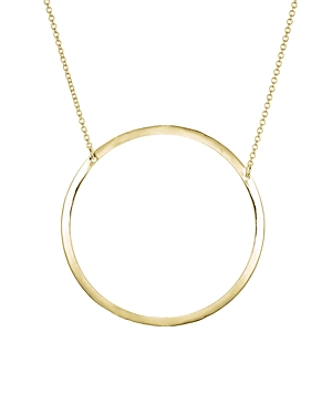 Aqua Circle Pendant Necklace in 18K Gold-Plated Sterling Silver or Sterling Silver, 15 - 100% Exclusive