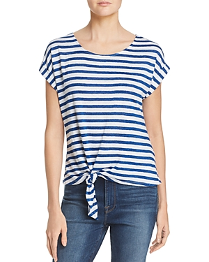 Frame Tie-Front Striped Tee