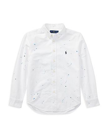 Ralph Lauren - Boys' Paint Splatter Oxford Shirt - Big Kid
