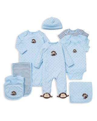 Boys' Monkey Star Bodysuit, 3 Pack - Baby