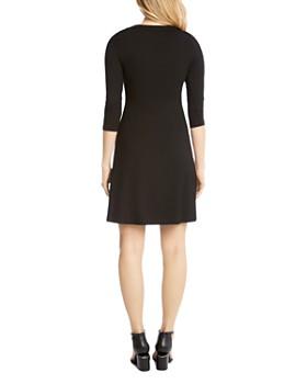 Karen Kane - Three Quarter Sleeve A-Line Dress
