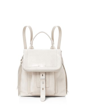 WARREN LEATHER BACKPACK - IVORY