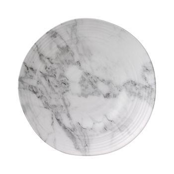 Merritt - White Marble Melamine Round Salad Plate