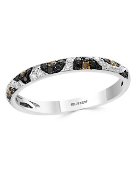Bloomingdale's - Black, White & Brown Diamond Leopard Spot Ring in 14K White Gold - 100% Exclusive