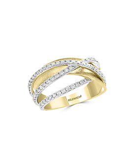 Bloomingdale's - Diamond Crossover Ring in 14K White & Yellow Gold, 0.45 ct. t.w. - 100% Exclusive