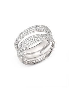 Roberto Coin - 18K White Gold Scalare Double Pavé Diamond Ring