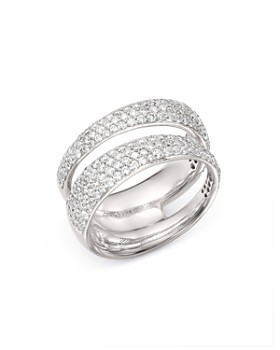 Roberto Coin - 18K White Gold Scalare Double Pavé Diamond Ring
