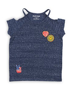 Butter Girls' Cold-Shoulder Tee with Patches - Big Kid - Bloomingdale's_0