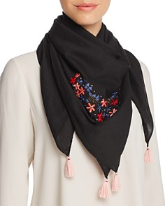 AQUA Embroidered Square Scarf - Bloomingdale's_0