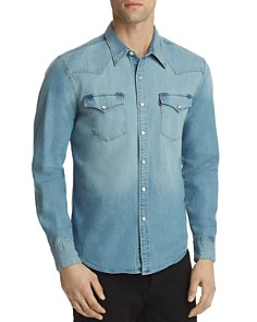 Levi's Denim Woven Western Shirt - Bloomingdale's_0