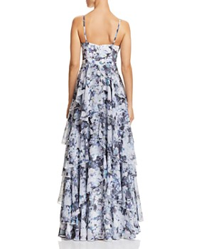 Fame and Partners - The Catherine Tiered Floral Gown