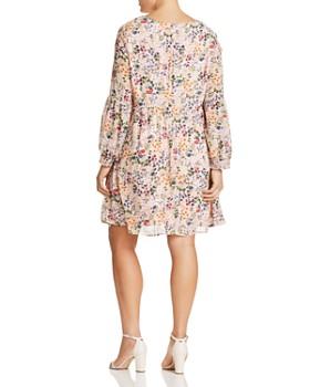GLAMOROUS CURVY - Long-Sleeve Floral Dress