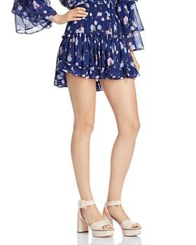 MISA Los Angeles - Rianne Floral Mini Skirt