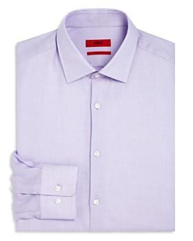 HUGO - Textured Dot Regular Fit Dress Shirt