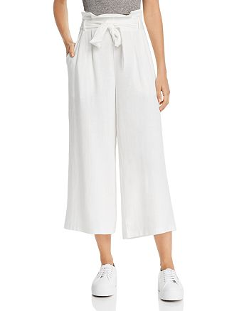 AQUA - Paperbag-Waist Wide-Leg Pants - 100% Exclusive