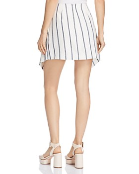 C/MEO Collective - Diffuse Striped Tie-Front Mini Skirt