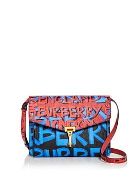 Burberry - Small Macken Graffiti Print Leather Crossbody