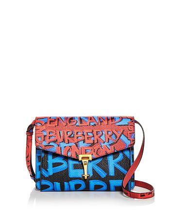 d4e654ce98eb Burberry - Small Macken Graffiti Print Leather Crossbody
