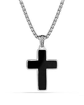 David Yurman - Exotic Stone Cross with Black Onyx
