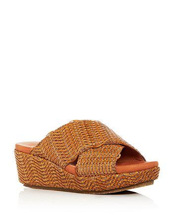 Gentle Souls by Kenneth Cole - Women's Mikenzie Woven Platform Slide Sandals