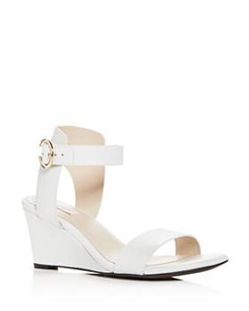 Cole Haan - Women's Rosalind Leather Wedge Sandals