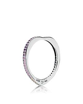 Pandora - Sterling Silver & Multicolor Cubic Zirconia Arc of Love Ring