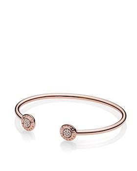 PANDORA - Rose Signature Open Bangle Bracelet