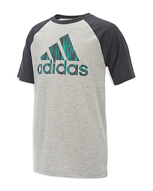 Adidas Boys Raglan Logo Tee  Big Kid
