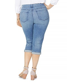 NYDJ Plus - Marilyn Cropped Jeans in Pacific