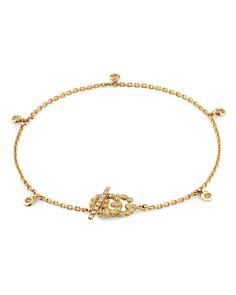 Gucci - 18K Yellow Gold GG Running Chain Diamond Bracelet